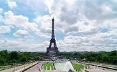 Eiffel Tower With Flowing Trocadero Fountains, Paris, France poster
