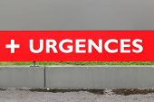 Medical Emergency Called Urgences In French, France poster