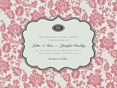 stock photo of wedding invitation  - Vector Pastel Floral Frame - JPG