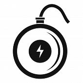 Turbo Wireless Charger Icon. Simple Illustration Of Turbo Wireless Charger Vector Icon For Web Desig poster