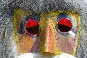 Detail of an romanian traditional mask