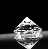 big diamond on dark background