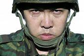 Fierce Army Soldier Portrait