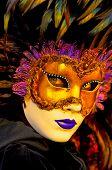 Постер, плакат: традиционная маска Венеции с красочные украшения