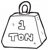 cartoon 1 ton weight