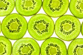 Slices of Fresh Kiwi / close-up background