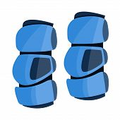 Lacrosse Arm Pads To Protection. Sport Knee Pad. Flat Cartoon Style Vector Illustration Icons. Isola poster