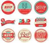 vector set vintage RSVP Label