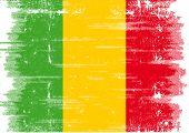 Malian grunge flag. A grunge flag of Mali