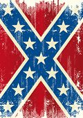 Grunge patriotic confederate flag. A background for a poster