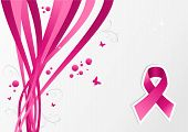 Pink Breast Cancer Ribbon Awareness