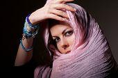 Woman In Pink Hijab