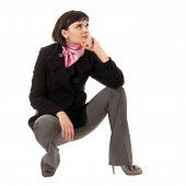 Mujer en Topcoat