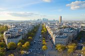 skyline of Paris from place de l'�toile, France