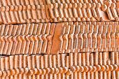 The Pile Of The Old Clay Rooftiles