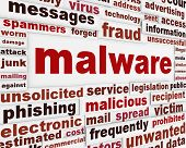 stock photo of malware  - Malicious malware warning message - JPG