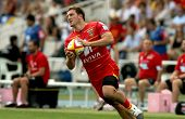 BARCELONA - SEPT, 15: Adrien Plante of USAP Perpignan in action during the French rugby union league