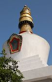 Dro-dul or Do-drul Chorten Stupa in Gangtok, Sikkim, India.
