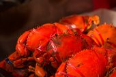Roasted Red Crabs