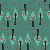Vector Seamless Tree Pattern