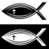 An image of a Christian fish symbol.