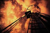 Refinery Ladder Under Evil Sky