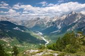 high view of Valbona Valley National Park, Albania