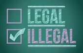 Marca de verificação para a seleção de ilegal