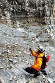 Alpinist  Eiger Peak, Berner Oberland, Switzerland - UNESCO Heritage