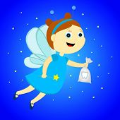 stock photo of tooth-fairy  - tooth fairy with a bag in his hands - JPG