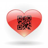 Heart With Qr Code