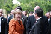 Angela Merkel in Limassol, Cyprus, January, 2013.