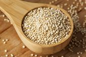 stock photo of quinoa  - Raw Organic Quinoa Seeds against a background - JPG