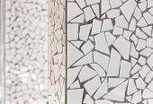 broken tiles mosaic trencadis typical from Mediterranean Spain