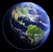 Earth In Shadow. 3D Rendering