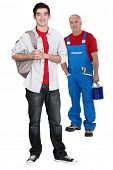Teenager starting his apprenticeship