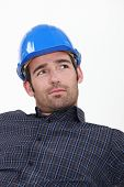 Attractive man in a hardhat