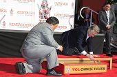 LOS ANGELES, CA - FEB 4: Robert De Niro at a ceremony where Robert De Niro is honored with hand and foot prints at TCL Chinese Theater on February 4, 2013 in Los Angeles, California
