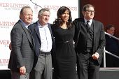 LOS ANGELES, CA - FEB 4: Billy Crystal, Robert De Niro, Grace Hightower, David O Russell as Robert D