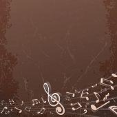 Grunge Musical Background. Vector Backdrop Image
