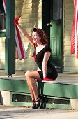 Pretty Pin Up Girl Waving