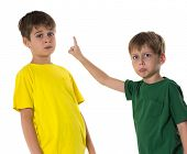 child arguing