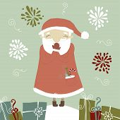 Santa Claus laughing. Funny and cute illustration.