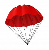 stock photo of parachute  - Red parachute - JPG
