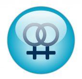 Glassy Blue Lesbian Icon