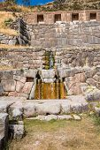 Tambomachay, Incas ruins in the peruvian Andes at Cuzco Peru South America