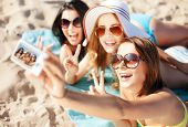 stock photo of teenagers  - summer holidays - JPG