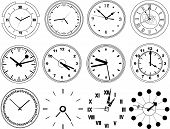 Illustration Of Different Clocks