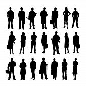 picture of clip-art staff  - Set of icons with people profession - JPG