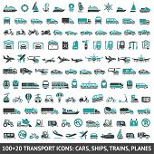 image of transportation icons  - 120 Transport icons - JPG